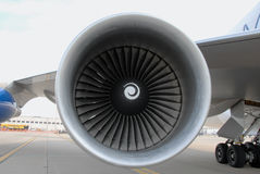 Jet engine turbine Royalty Free Stock Photo