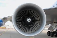Jet engine turbine Royalty Free Stock Photo
