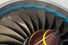 Jet engine turbine blades Royalty Free Stock Photos