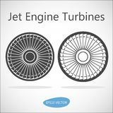 Jet Engine Turbine Front View. Vector Stock Illustration Royalty Free Stock Photos