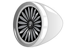 Jet engine. On a white background Stock Photography