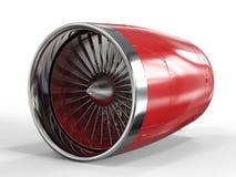 Jet engine on white background royalty free illustration