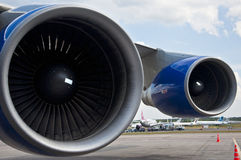 Turbines of jet plane Royalty Free Stock Images