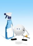 Jet et caractère 3d en verre bleus Photos libres de droits