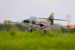 Jet för kontroll för Grumman F9F panterradio Royaltyfria Bilder