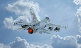 Free Jet F-16 Fly In The Sky , American Military Fighter Plane.  USA Army Stock Image - 66798251