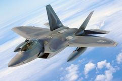 Jet F-22 Fighter Stock Image