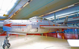 Jet F-84 de chasseur-bombardier Photo stock