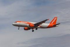 Jet facile - Airbus A320 Photos libres de droits