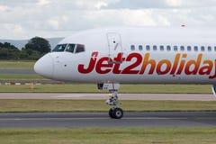 Jet2 Feiertage Boeing 757 Lizenzfreies Stockfoto