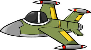 Jet Fighter. Green Jet Fighter Vector Illustration Royalty Free Stock Photo