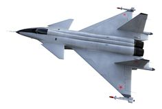 Jet fighter. 3D render of russian jet fighter Stock Images