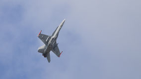 Jet fighter aircraft in flight Stock Photo