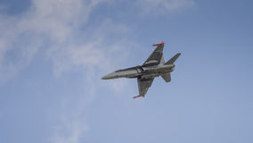 Jet fighter aircraft in flight Royalty Free Stock Photo
