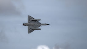 Jet fighter aircraft in flight Royalty Free Stock Images