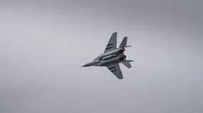 Jet fighter aircraft ion flight Royalty Free Stock Photo