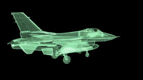 Jet Fighter Aircraft  Mesh stock footage