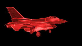 Jet Fighter Aircraft  Mesh stock video footage