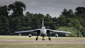 Jet fighter aircraft about to depart Royalty Free Stock Photography