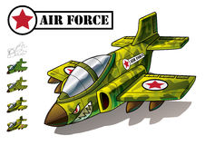 Vector Air Force Fighter Aircraft. Jet Fighter Aircraft useful for games and or military themed design. Awesome clean vector means you can print it at any given Stock Photo