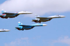 Jet fighter aircrafts Su-27 Stock Image