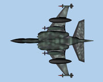 Jet Fighter from below royalty free illustration