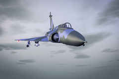 Jet fighter. A fight jet high in the sky Royalty Free Stock Photos