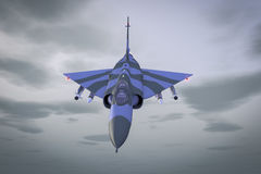 Jet fighter. A fight jet high in the sky Stock Images