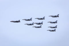 Jet fighter formation Stock Photography