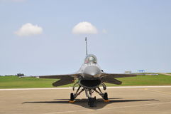 Jet fighter front view. Stock Images