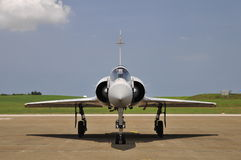 Jet fighter front view. Royalty Free Stock Images