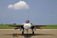Jet fighter front view. Republic of China indigenous defensive fighter front view.Photo taken on:July 19th, 2014 in Taiwan Stock Photos