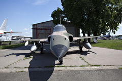 Jet fighter on the ground Stock Images