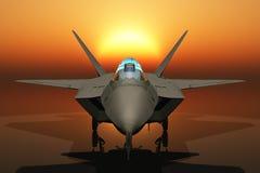 Jet Fighter Head On Stock Photo