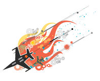 Jet fighter illustration Royalty Free Stock Image