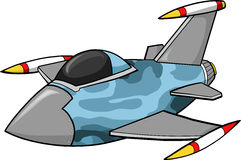 Jet Fighter Illustration. Camo Jet Fighter Vector Illustration Stock Photography