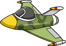 Jet Fighter Illustration. Camouflage Jet Fighter Illustration Vector Royalty Free Stock Image