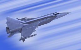 Jet-fighter. Illustration 3d model of jet-fighter Stock Images
