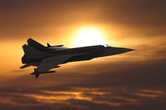 Jet-fighter Royalty Free Stock Images