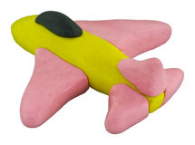 Jet fighter made from clay. Jet figher airplane made from clay Stock Photography