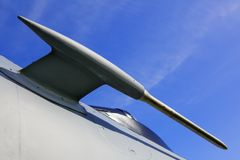 Jet Fighter pitot tube Royalty Free Stock Images