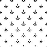 Jet fighter plane pattern, simple style Royalty Free Stock Photography