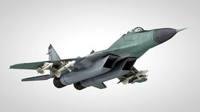 Jet fighter. Russian jet fighter on neutral background Stock Image