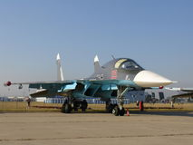 Jet fighter Su-34 Stock Image