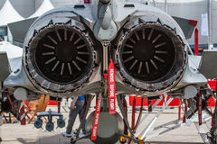Jet fighter tailpipes Stock Image