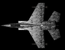 Jet fighter - top view. Royalty Free Stock Photo
