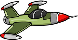 Jet Fighter Vector. Green Jet Fighter Vector Illustration Stock Images