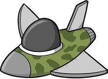 Jet Fighter Vector. Camo Jet Fighter Vector Illustration Royalty Free Stock Photo