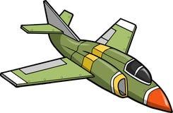 Jet Fighter Vector Illustration. Green Jet Fighter Vector Illustration Royalty Free Stock Image