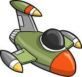 Jet Fighter Vector Illustration. Green Jet Fighter Vector Illustration Royalty Free Stock Photography